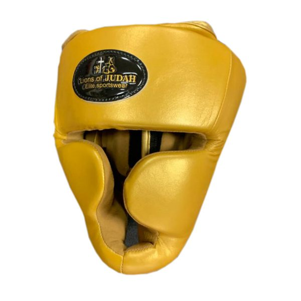 head guard childrens gold colour
