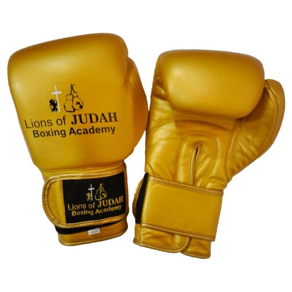 boxing gloves for adults - gold colour