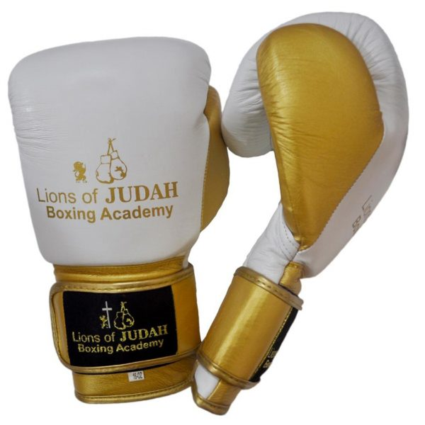 boxing gloves for adults - white