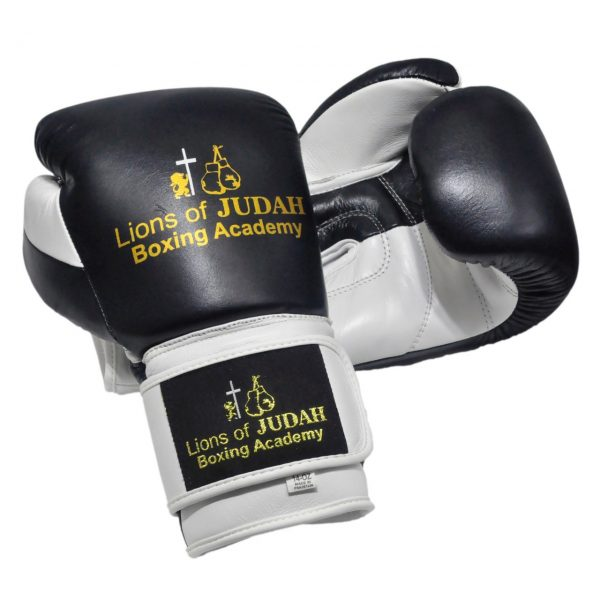 Boxing gloves for adults - black white